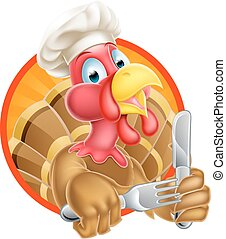 Chef Cartoon Turkey