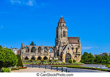 HDR Ruins of Caen Abbey - High dynamic range (HDR) Ruins of...