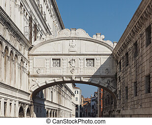 Bridge of Sighs in Venice - Ponte dei Sospiri (meaning...