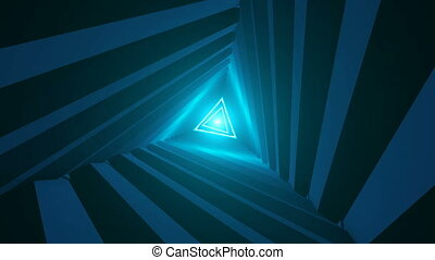 Triangle Future Space Tunnel. Science background - Triangle...