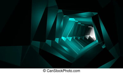 Abstract background with tunnel. Technology backdrop loop