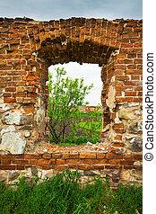 Dilapidated stud farm 19th century. The ruins of Orlov...