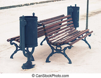bench in a park