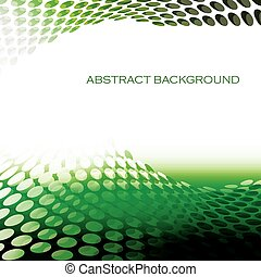 Abstract circular pattern waves green background