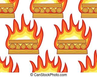 Burning wood pattern