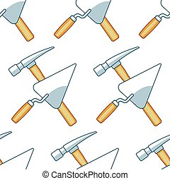 Crossing hammer and trowel pattern