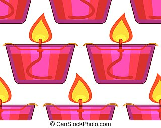 Icon lamp pattern - Seamless pattern of the oil lamps
