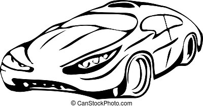 The sketch is stylish car.