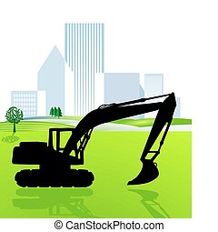 shovel excavator and city planning