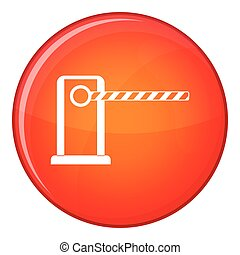 Parking entrance icon, flat style - Parking entrance icon in...
