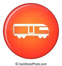 Swiss mountain train icon, flat style - Swiss mountain train...