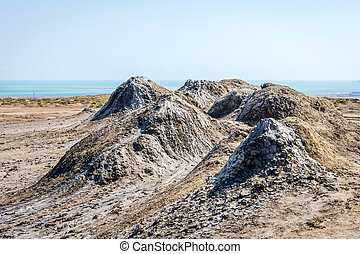 Mud volcano, Gobustan, Azerbaijan - Mud volcano in Gobustan,...