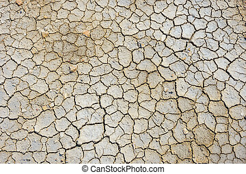 Dry cracked soil surface