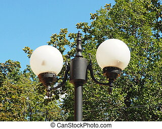 Lamp post. - This is a lamp post.
