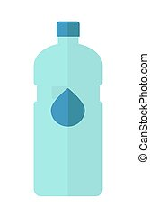 Vector Illustration of bottle of water. Vector flat...