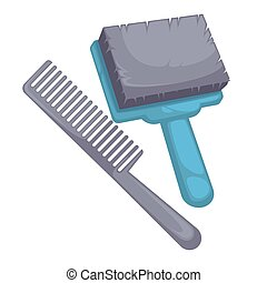 Brush and comb for dog - Brush and comb for animal....