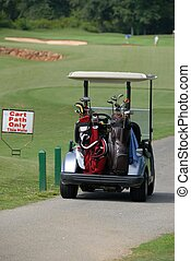 Golf Cart - Golf cart parked at tee off hole winder georgia...