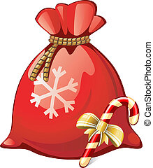 Santa Sack - Vector illustration of Santa Sack over white....