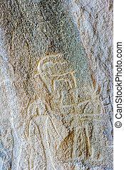 Gobustan petroglyphs, Azerbaijan - Ancient petroglyph...