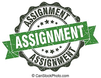 assignment stamp. sign. seal
