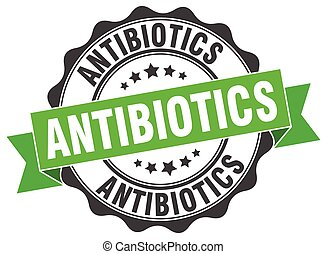 antibiotics stamp. sign. seal