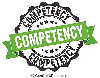 competency stamp. sign. seal
