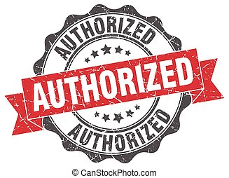 authorized stamp. sign. seal