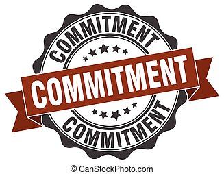 commitment stamp. sign. seal