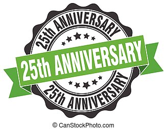 25th anniversary stamp. sign. seal