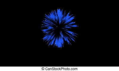 3D Render. Single Firework ball. Computer Graphic. Firework...