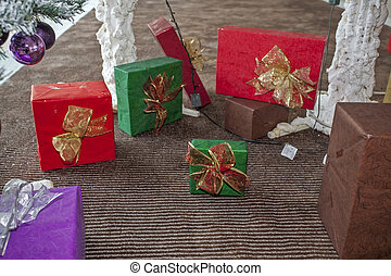 Christmas and New Year decorations and gift