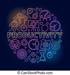 Productivity colorful round illustration