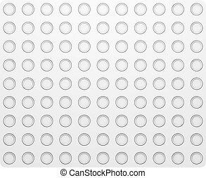 Circle Pattern. Regular White Texture
