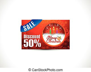 abstract christmas discount card.eps - abstract christmas...