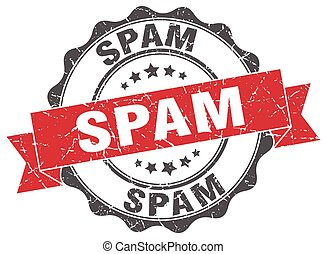 spam stamp. sign. seal