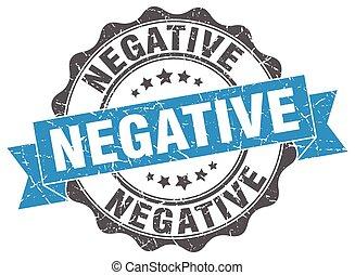 negative stamp. sign. seal