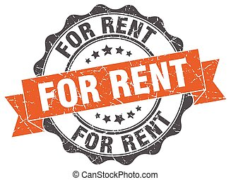 for rent stamp. sign. seal