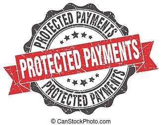 protected payments stamp. sign. seal