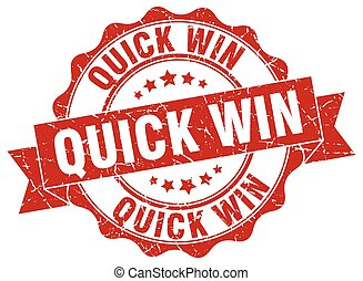 quick win stamp. sign. seal