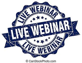 live webinar stamp. sign. seal