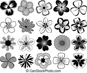 Flowers - File contains 20 elements flowers for drawing...