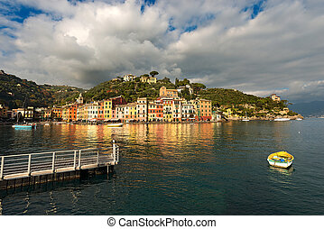 Portofino Village - Genova Liguria Italy - The village of...