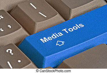 Hot key for media tools