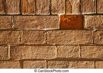brick in legnano street pavement a curch marble - brick in...