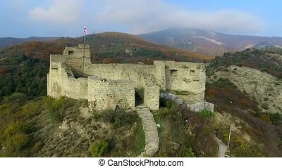 ruins of an old fortress on Kutaisi hill near Mtskheta,...
