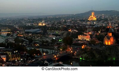 beautiful view of Tbilisi