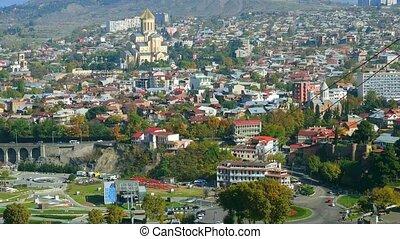 beautiful sunset cityscape of Tbilisi - beautiful cityscape...