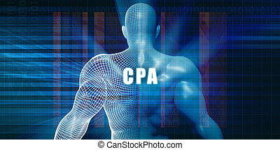 Cpa as a Futuristic Concept Abstract Background