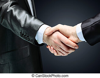 businessman. Hand for a handshake. - The businessman. Hand...