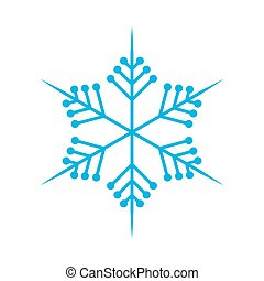 Snowflake in flat design. Vector illustration.